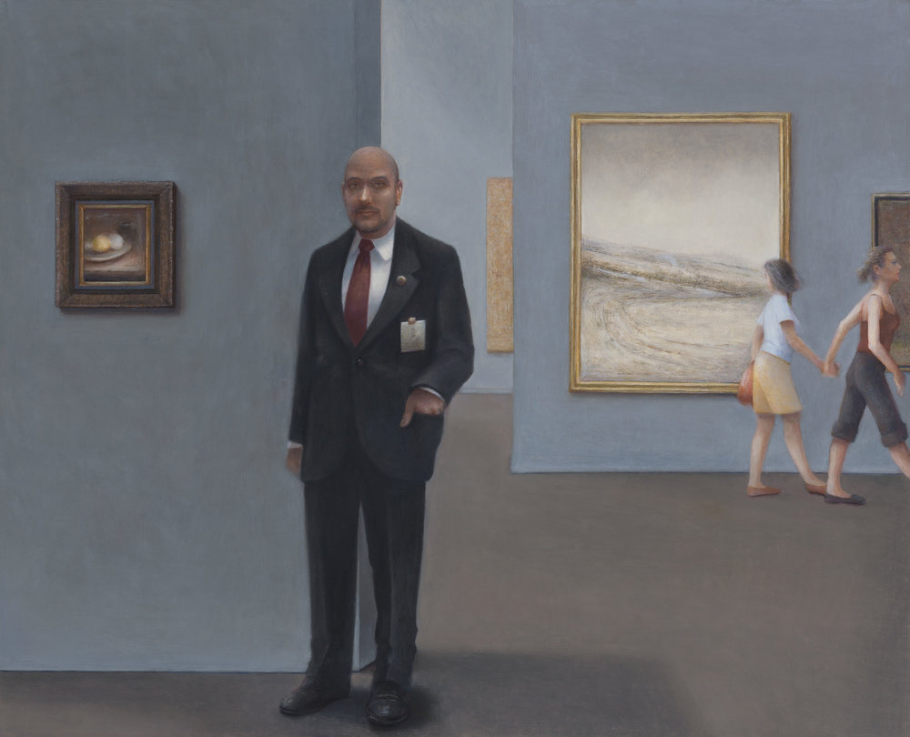 Museum Guard  2015  Oil on linen 66x82cm $10,000