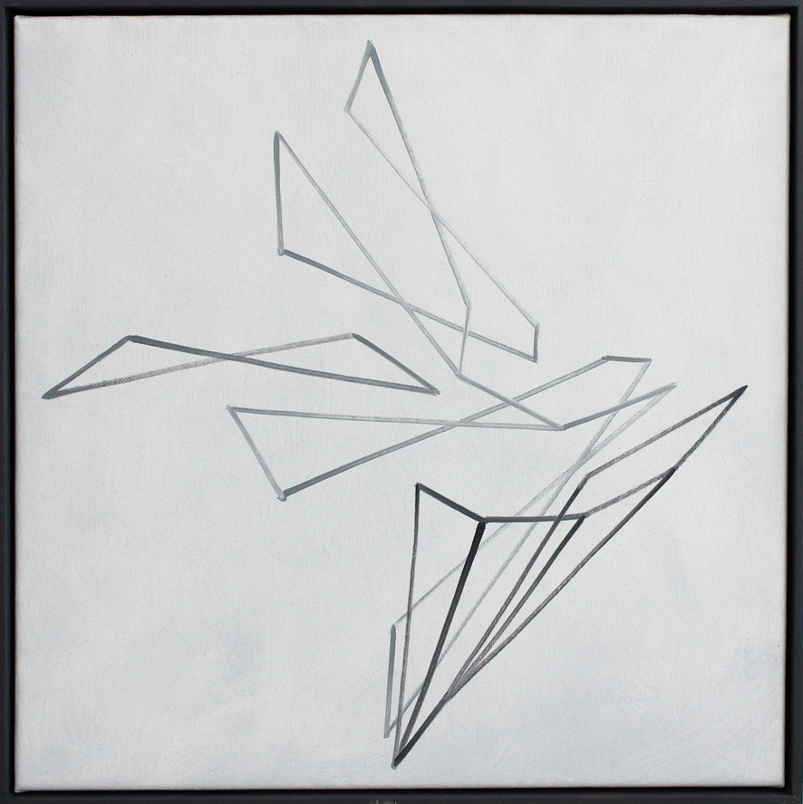 Continuum no.22, Oil on linen, 50 x 50 cm,$2,300