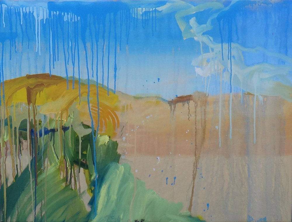Sunlit Hill.  2017. Oil on linen, 76 x 102 cm $6,500