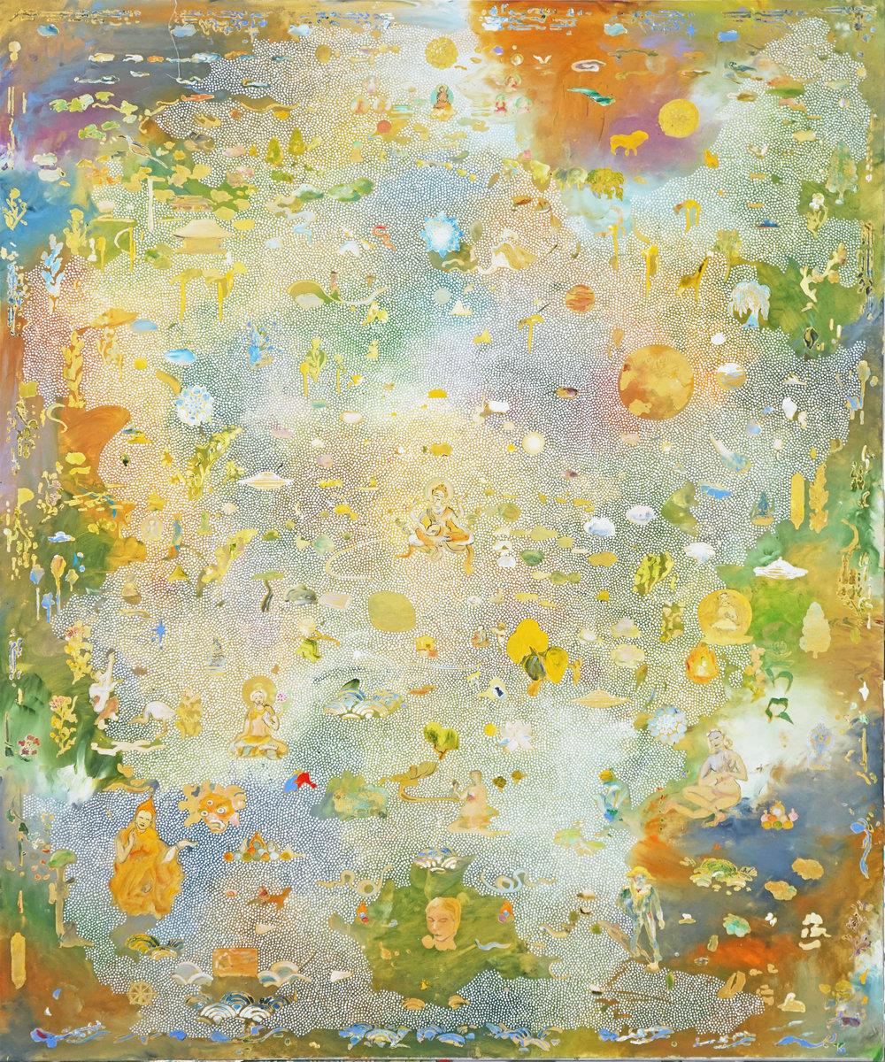 Vasudhara. 2017 Acrylic on linen. 183 x 152 cm $15,000