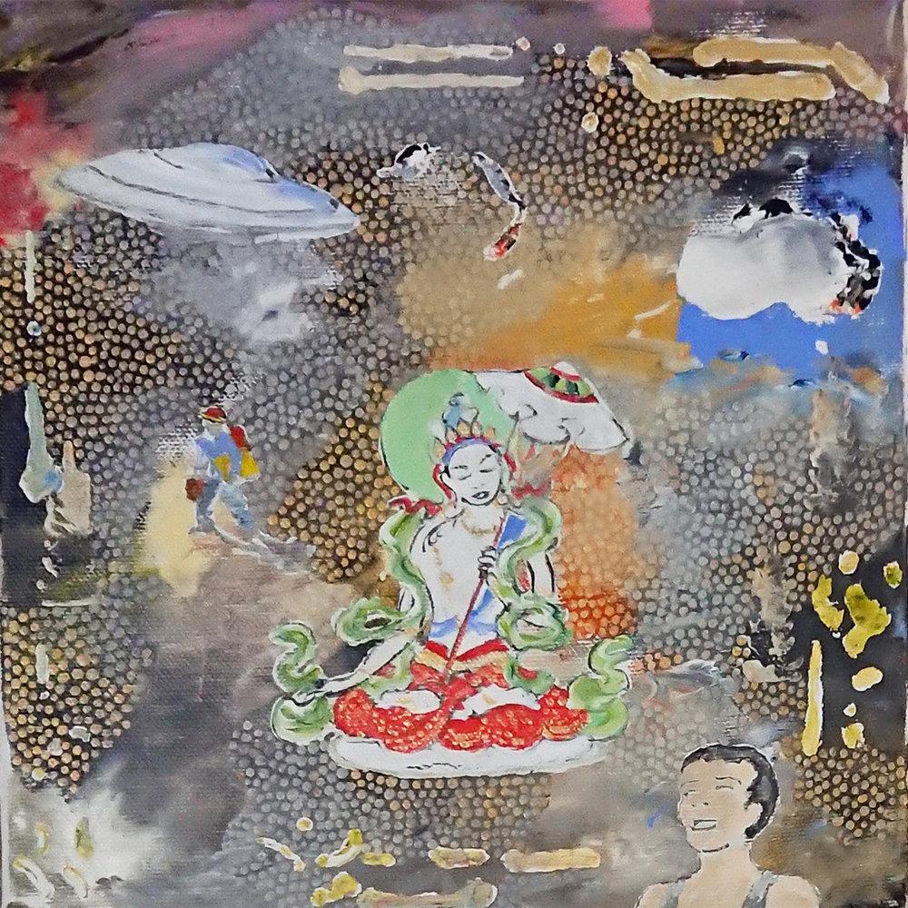 Sitapatra and Seito. 2018. Acrylic on canvas. 20 x 20 $ 300