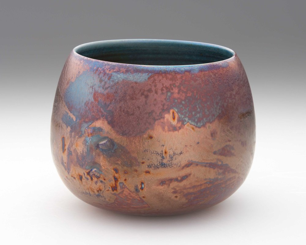 Rose gold sunset. 2018. 130 mm H, 150 mm Dia. $360 SOLD