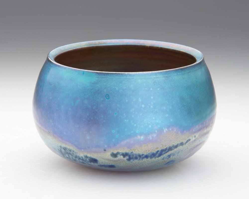 Blue day. 2018. 90 mm H, 130 mm Dia. $220 SOLD