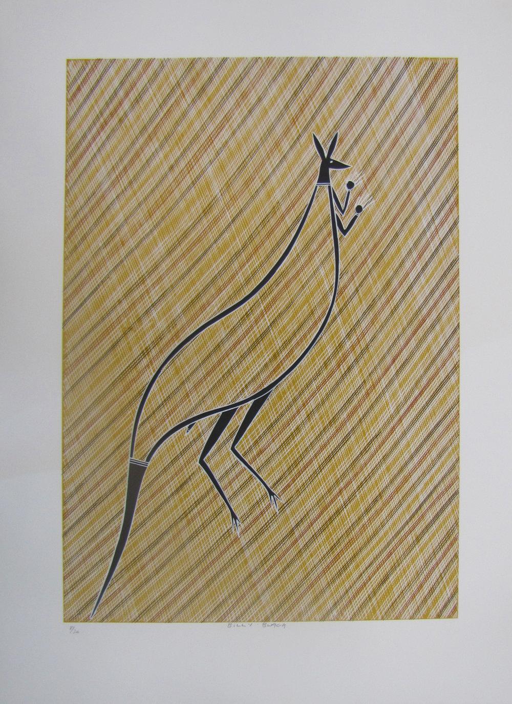 Billy Black, Wallaby. 2016  Silkscreen. Edition 6/30   59.5 x 42 cm   $350 (unframed)   $550 (framed) SOLD