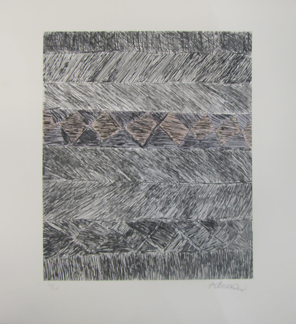 Kaye Brown, Winga. 2017 Etching. Ed 5 /20 29.5 x 24.5 cm.  $350 unframed  $550 framed   Editions 9/20 and 10/20 (unframed) also available