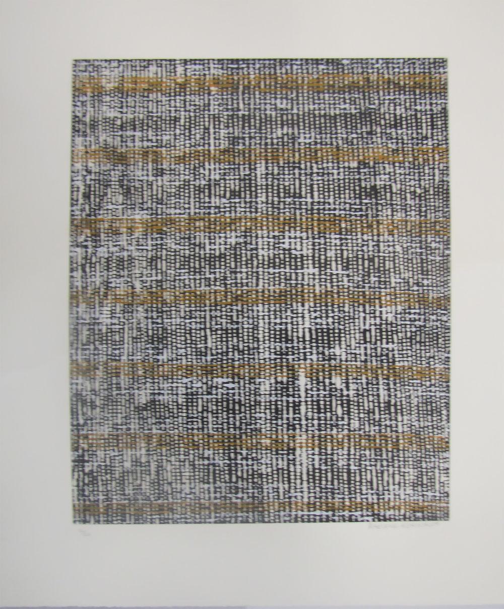 Raelene Kerinaua, Kayimwagakimi Jilamara. 2017   Etching and silkscreen. Ed 11/20  50 x 40.5 cm. $480 unframed   $680 framed   Editions 12/20 and 13/20 (unframed) also available