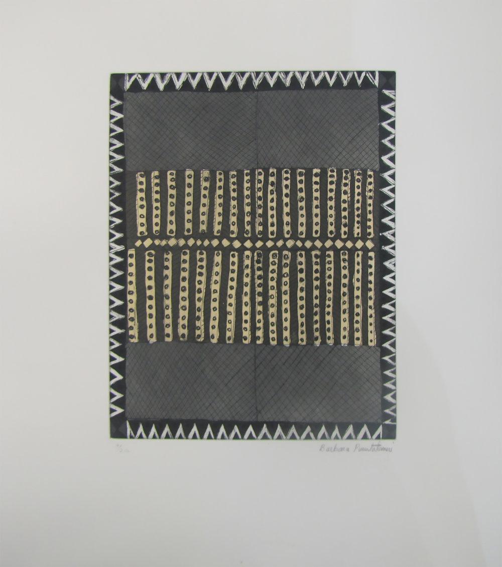Barbara Puruntatameri, Parlini Jilamara. 2017   Etching. Ed 10/20   24.7 x 19.7 cm. $350 unframed   $550 framed   Editions 9/20 and 11/20 (unframed) also available