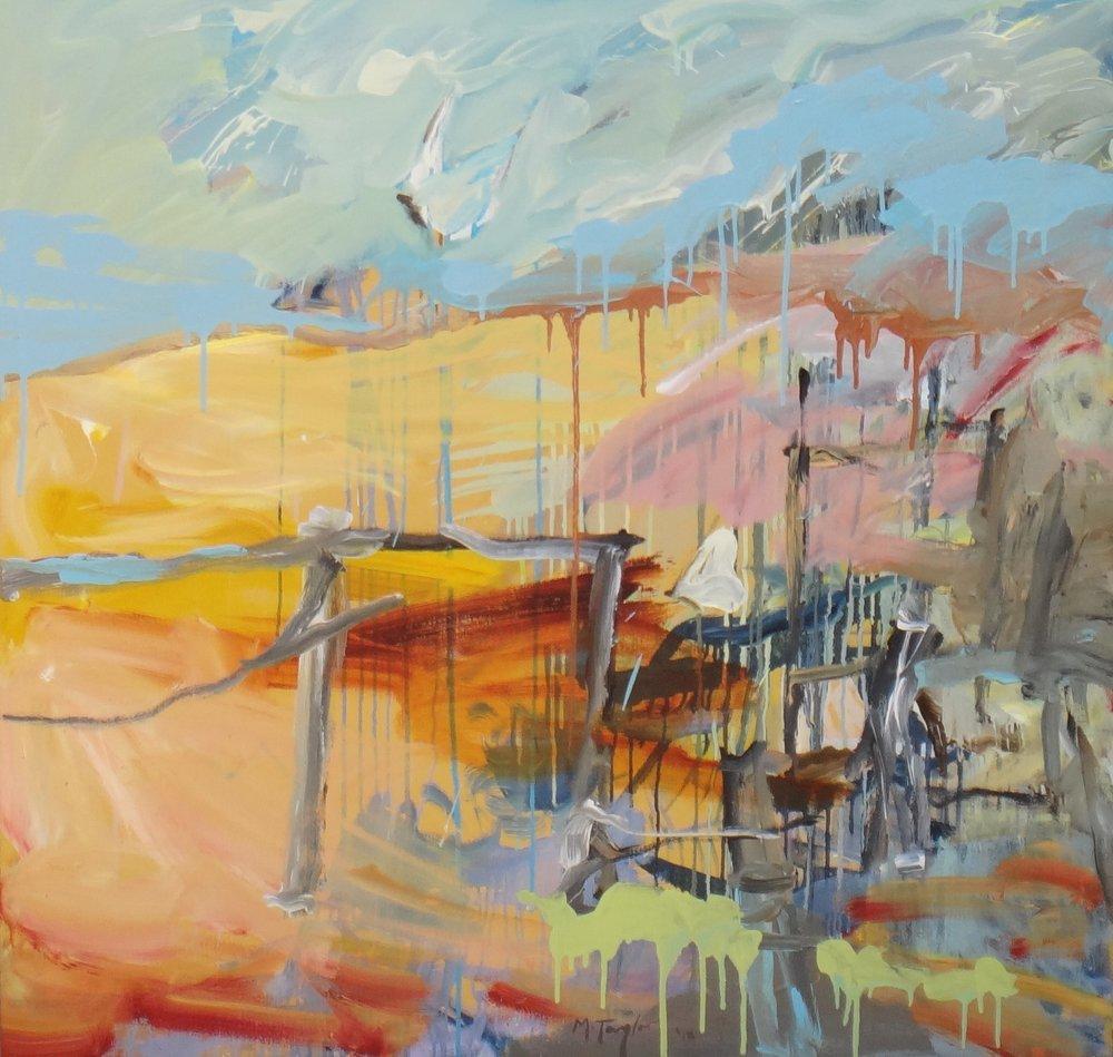 Summer 18. 2018. oil on canvas. 96 x 102 cm.$7,000