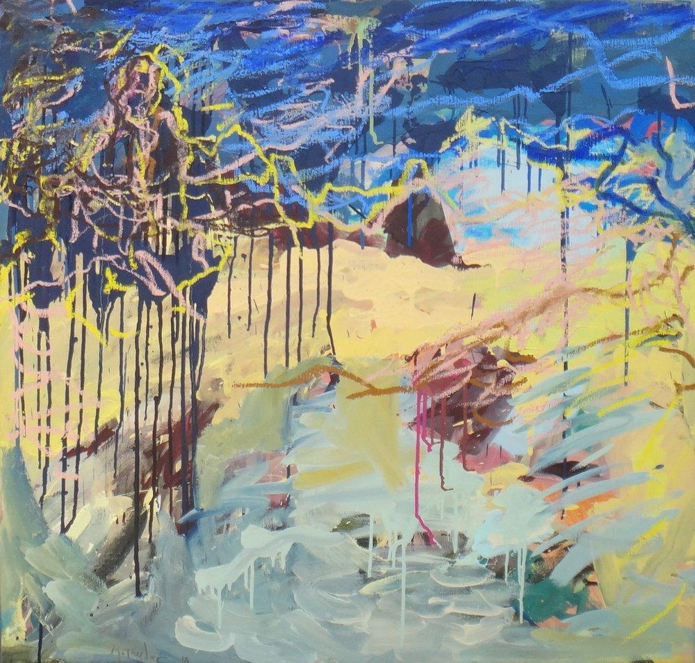 The beach. 2018. oil on canvas. 96 x 102 cm.$7,000
