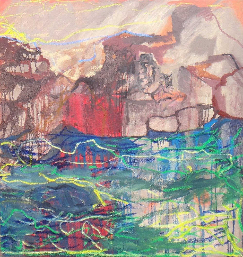 Warm stones. 2018.  oil on canvas. 102 x 96 cm. $7,000