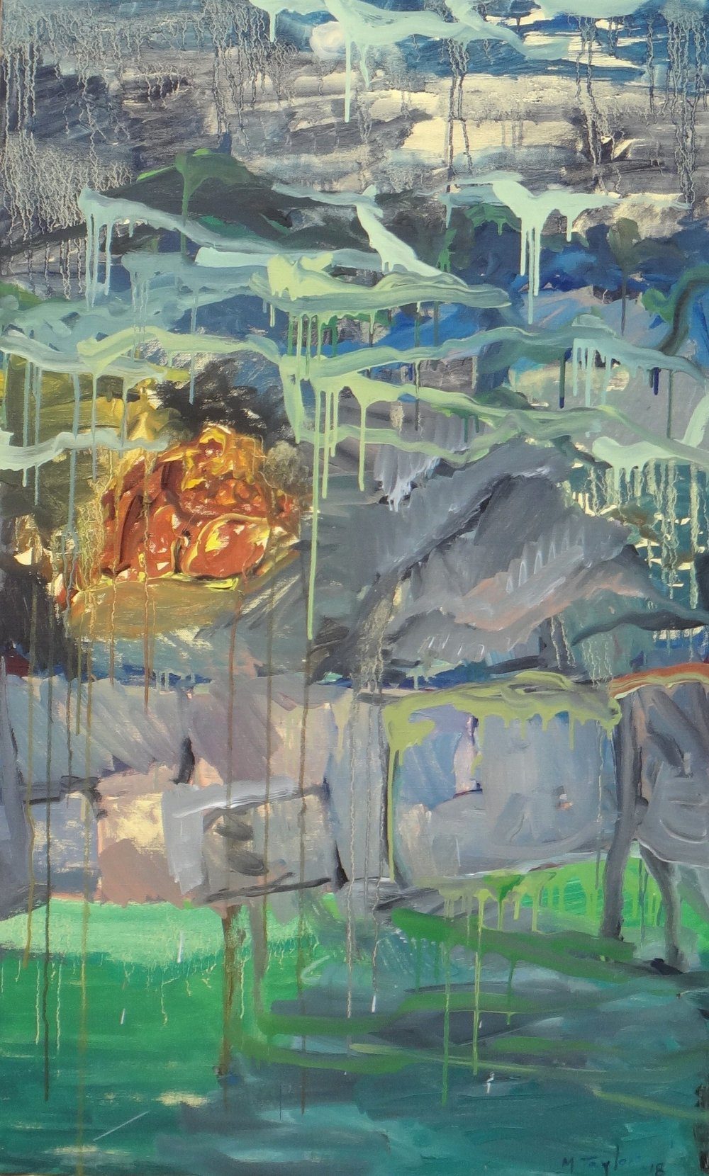 Waterside. 2018. oil on canvas. 137 x 84 cm. $8,000
