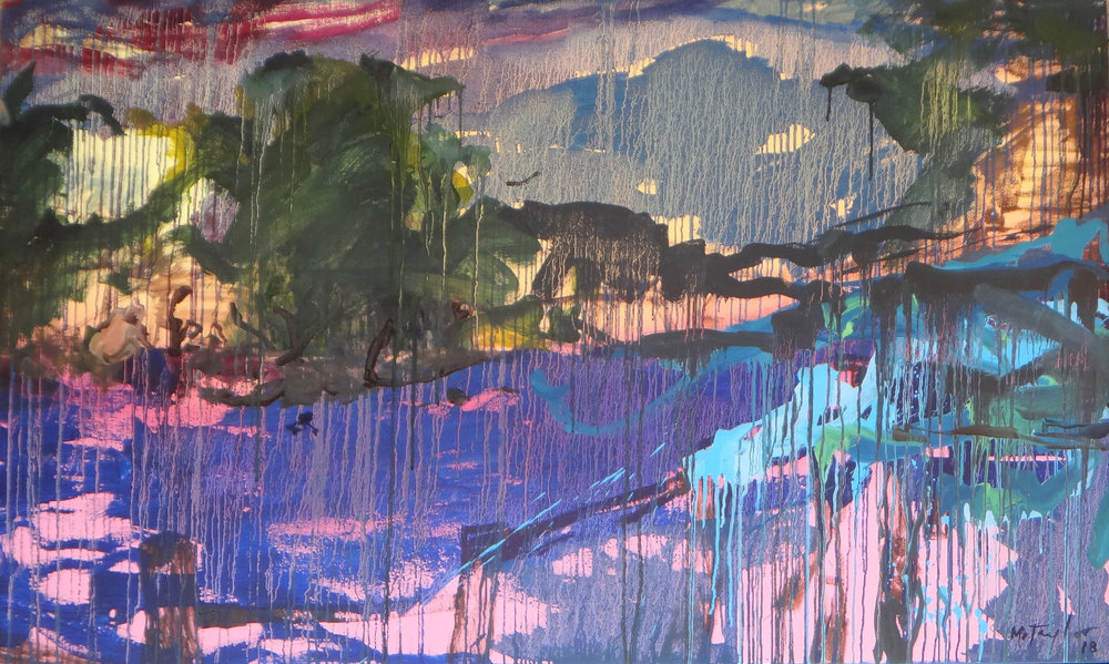 The river. 2018.  Oil on canvas. 91 x 152 cm. $9,000 RESERVED