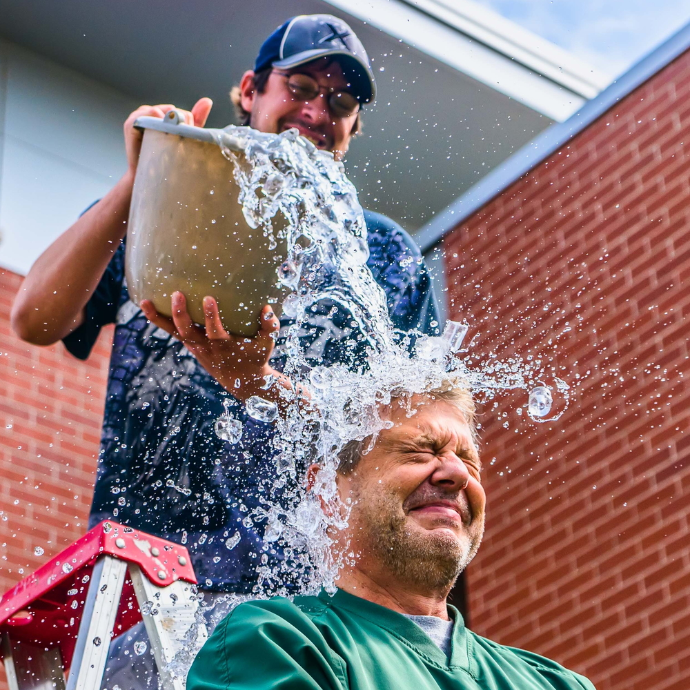 """John Maino performs the ALS Ice Bucket Challenge"" by Rauglothgor - Own work. Licensed under Creative Commons Attribution-Share Alike 4.0 via Wikimedia Commons –  http://commons.wikimedia.org/wiki/File:John_Maino_performs_the_ALS_Ice_Bucket_Challenge.jpg#mediaviewer/File:John_Maino_performs_the_ALS_Ice_Bucket_Challenge.jpg"
