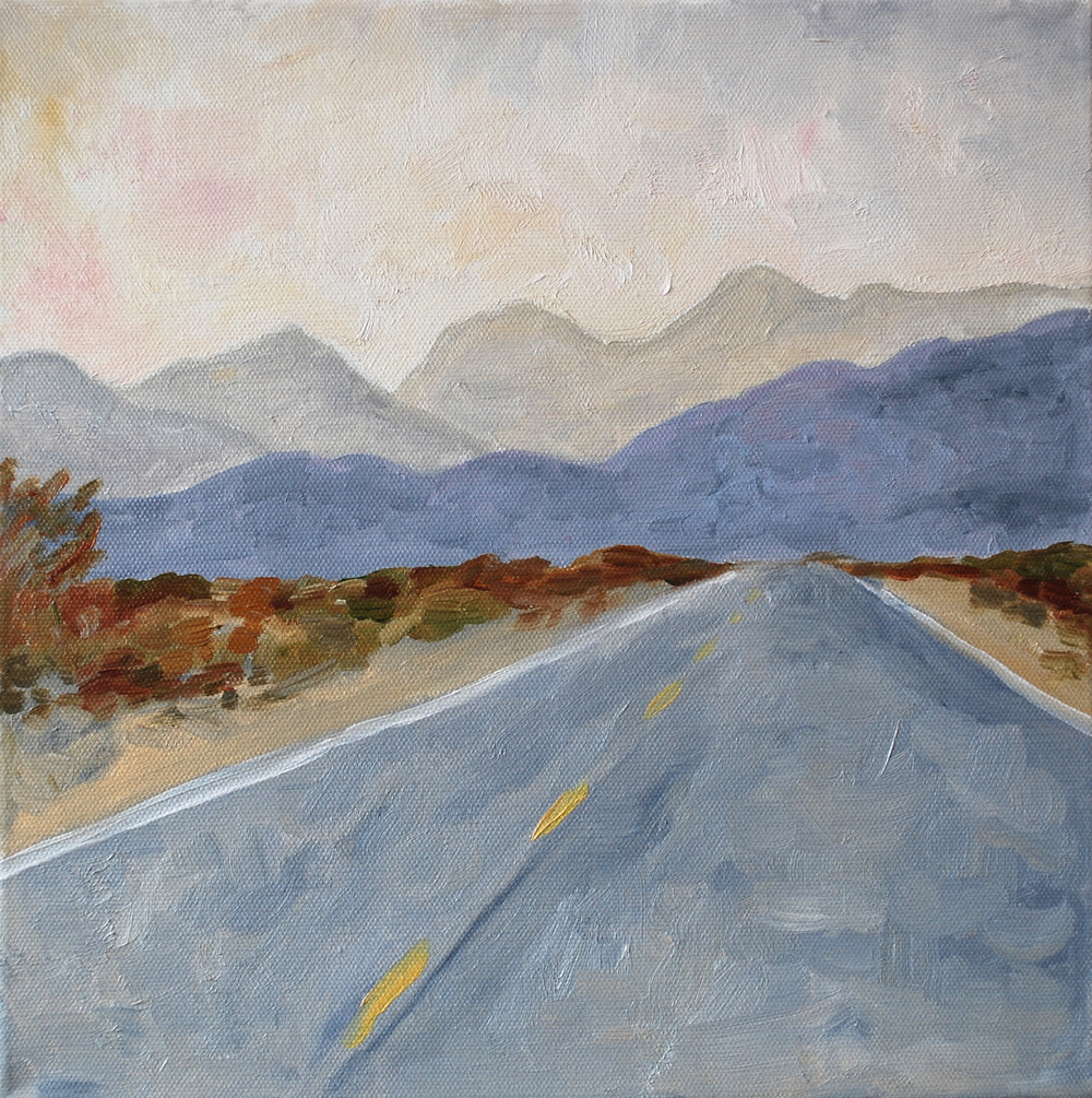 "Indian Canyon Rd, oil, 12""x12"", SOLD"
