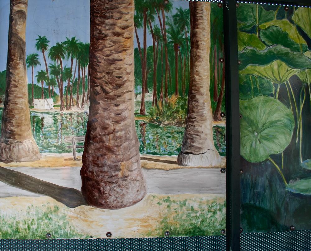 bus stop mural, detail