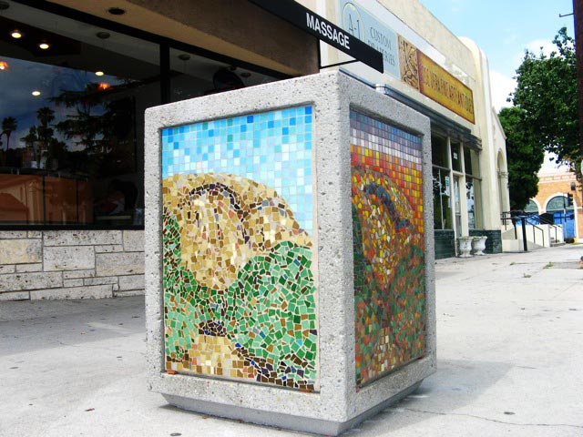 Eagle Rock mosaic installation