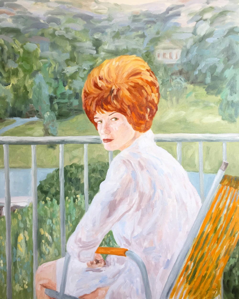 """Margret;landscape portrait, 30""""x40"""", oil on canvas"""