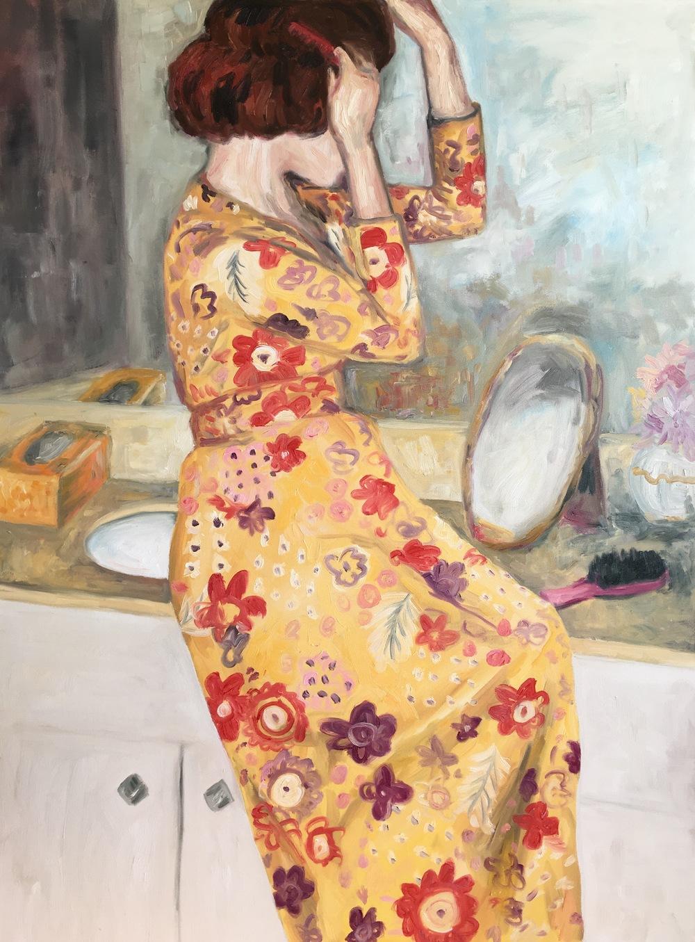 "vanity, 30""x40"", oil on canvas"