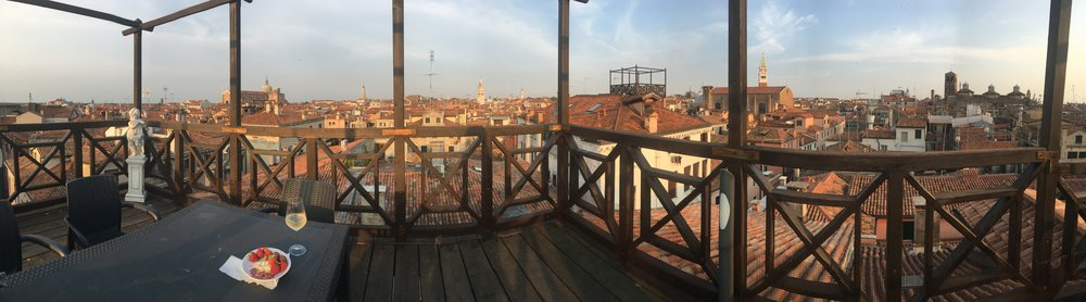 over the roofs of Venice