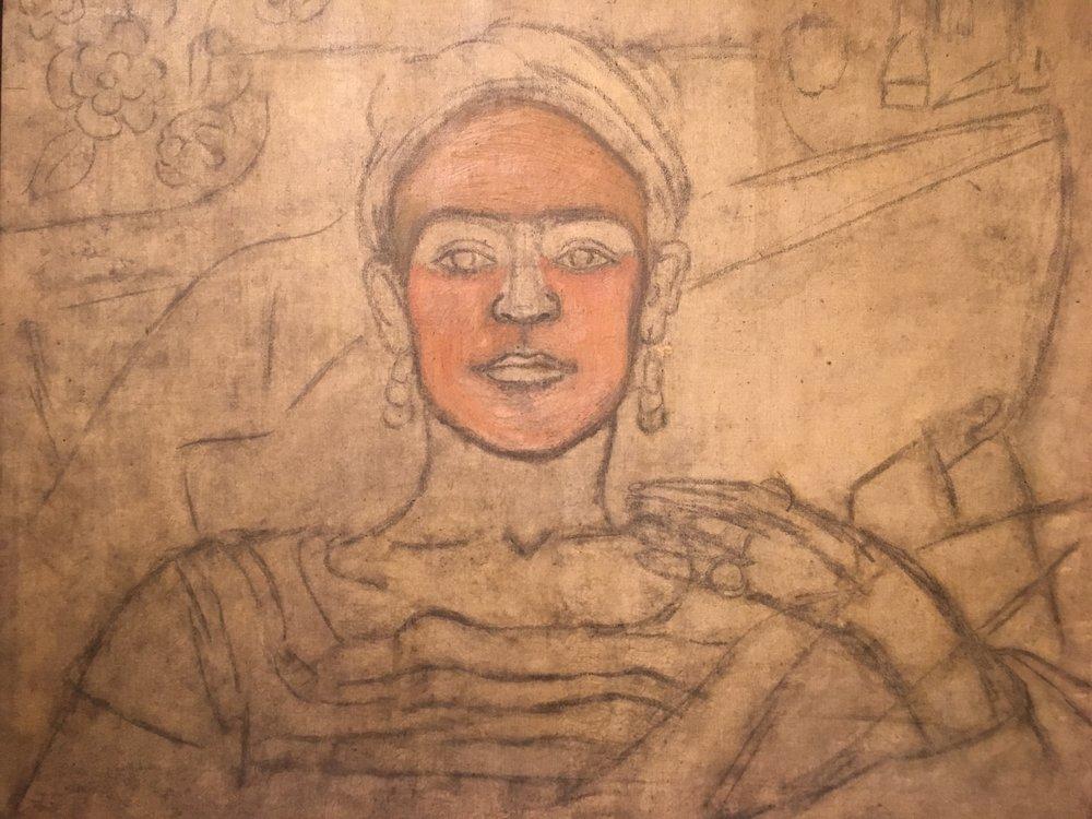 Frida unfinished portrait