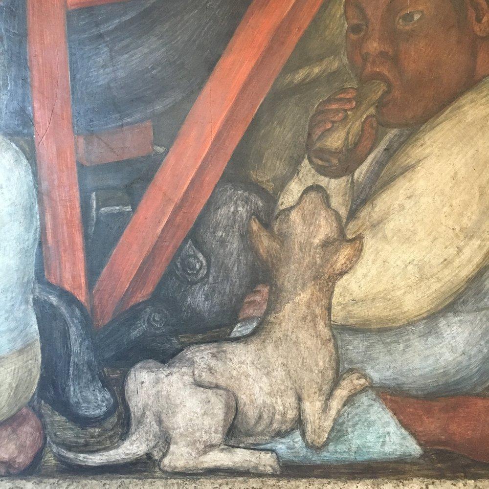 Murales de Diego Rivera en la Secretaria de Educacion Publica