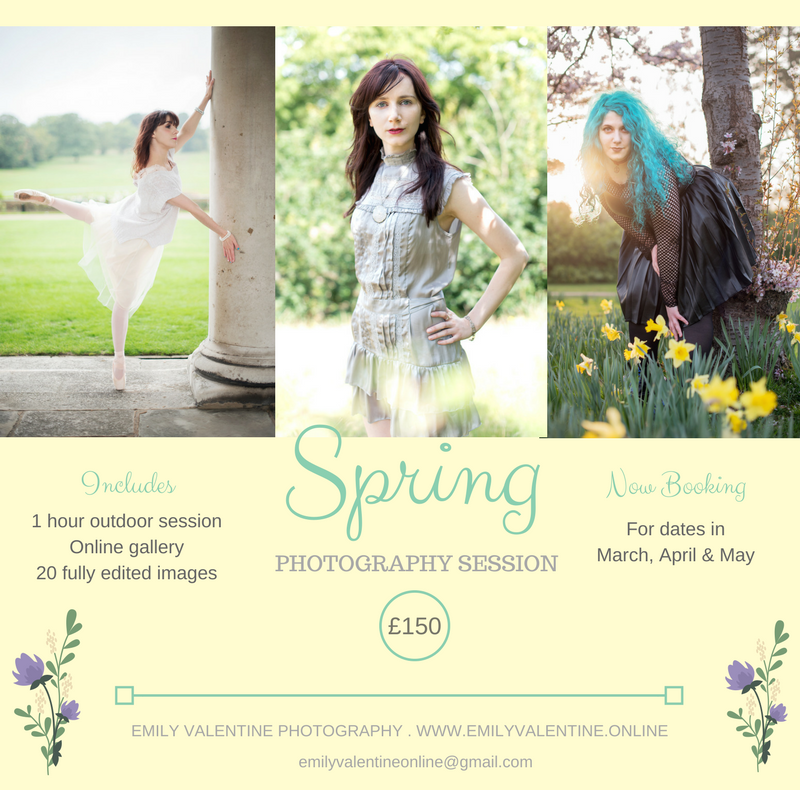 emily valentine photography spring photoshoot offer 2018