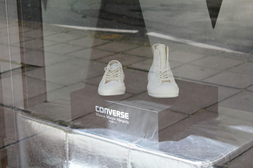 Converse x Maison Martin Margiela on the window display