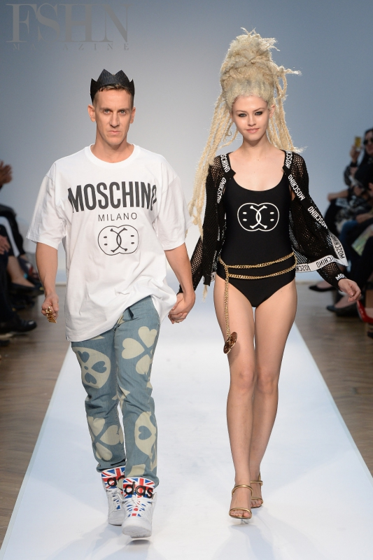 Moschino SS15: Jeremy Scott (left)