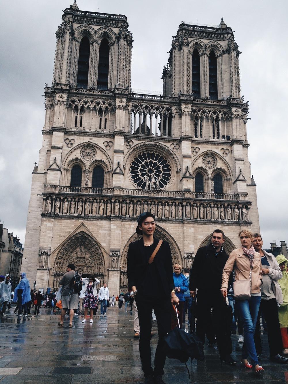 Weird stares at Notre Dame