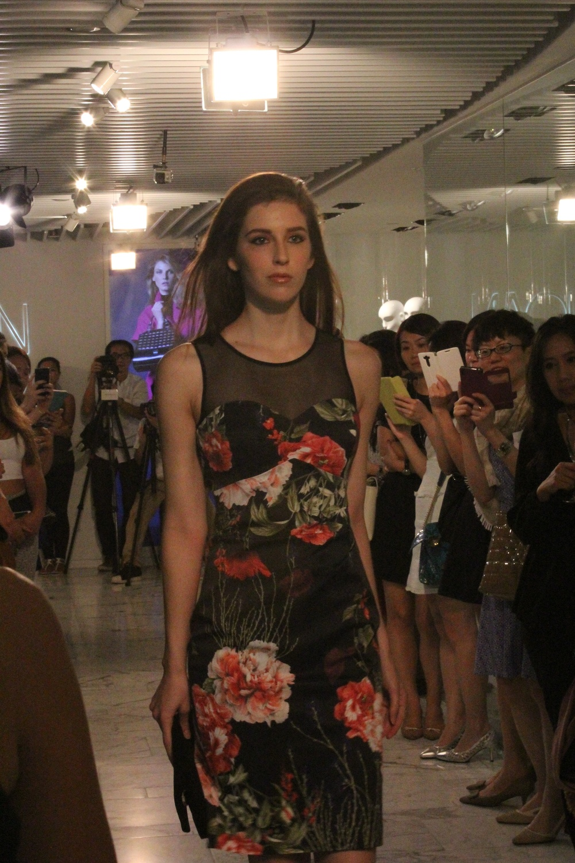 Dress: Rose print dress