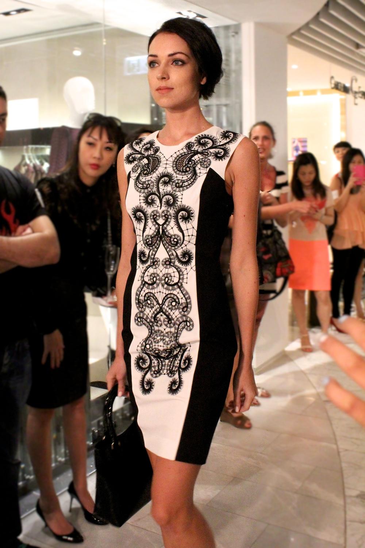 Dress: Signature embroidered dress