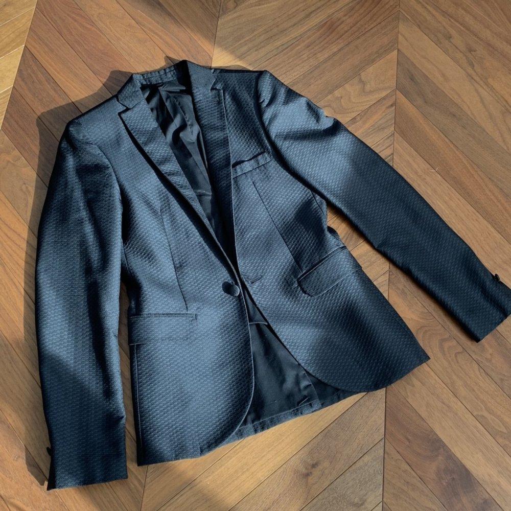 Topman Black Pattern Blazer
