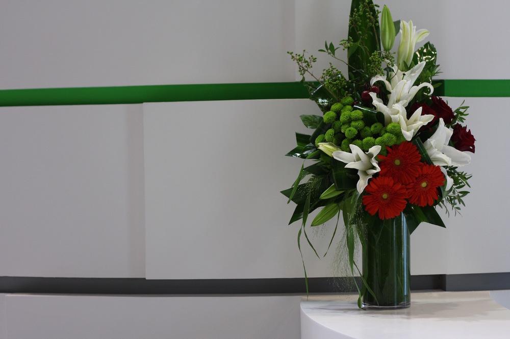 Facing Florals for Reception Desk