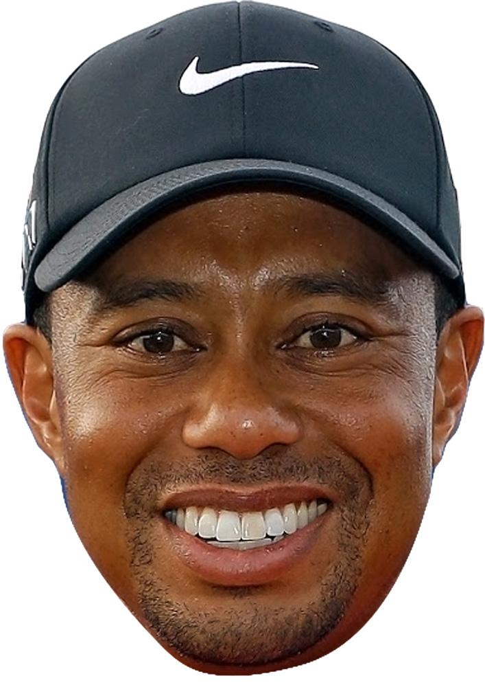 Smile Card Face and Fancy Dress Mask Celebrity Mask Tiger Woods