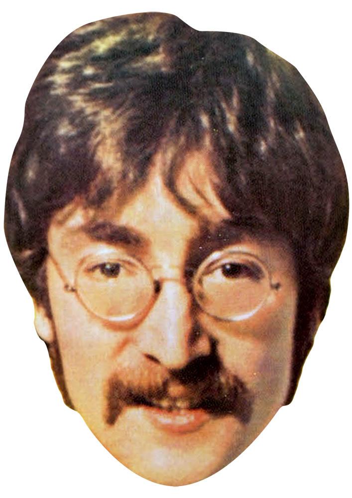 John Lennon Celebrity Mask Card Face and Fancy Dress Mask