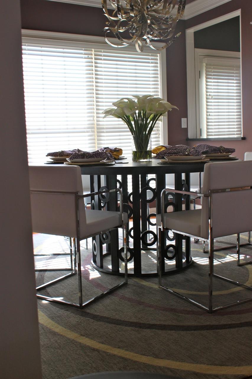 Custom Rug and Custom Dining Table