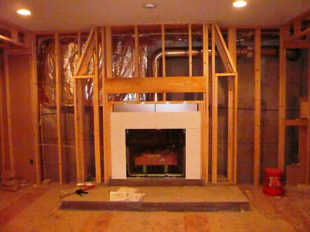 PJI LOWER LEVEL FIREPLACE PROJECT DURING