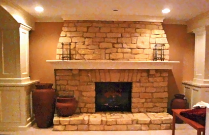 PJI LOWER LEVEL FIREPLACE PROJECT AFTER