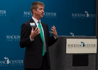 Dean Stansel, Mackinac Center for Public Policy, Issues & Ideas Forum, Detroit, September 16, 2014.
