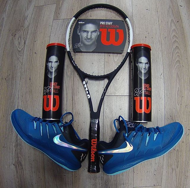Everything Roger!!!! We have the new Wilson Pro Staff, Roger's special tennis balls and Nike Vapor X tennis shoes. Players Choice Tennis  in Birmingham