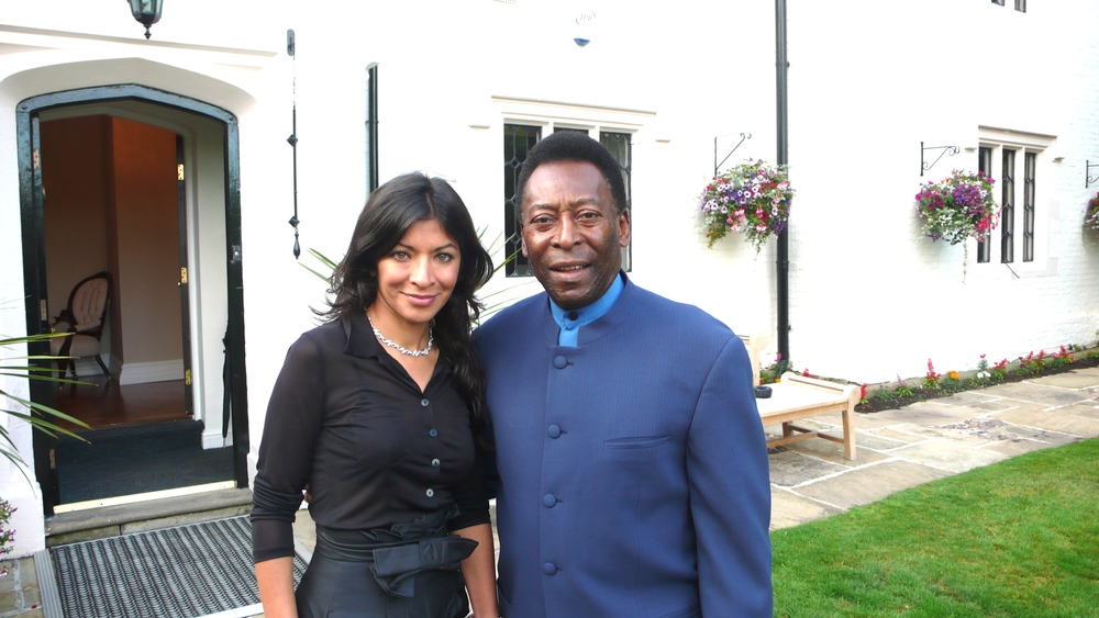 A trip down memory lane... Dr Begum with Pele