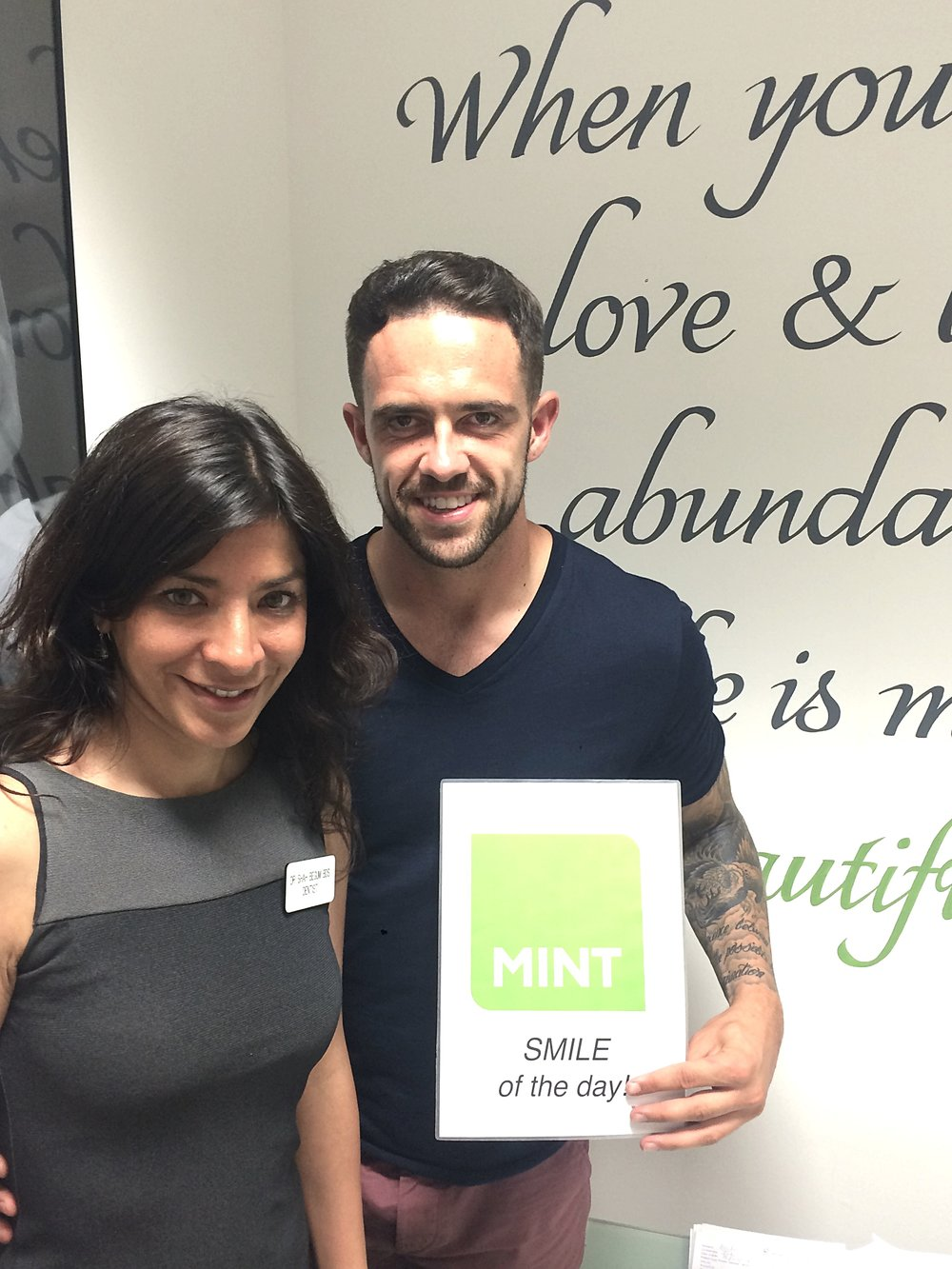 Premier League Liverpool FC footballer Danny Ings has his teeth whitened  with our dental surgeon, Dr Begum