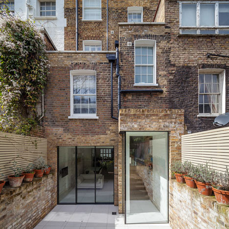 Moxon Architects renovated, added a new top floor, and rear extension to  this Grade II listed building in Chelsea. We like the details between the  glazing ...