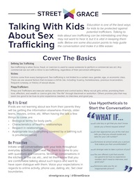Talking With Kids About Sex Trafficking