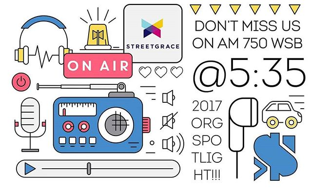 We're on the radio tomorrow! Tune in to the More Than Money show on News 95-5 and AM 750 WSB at 5:35 p.m. tomorrow and hear what's happening at Street Grace.