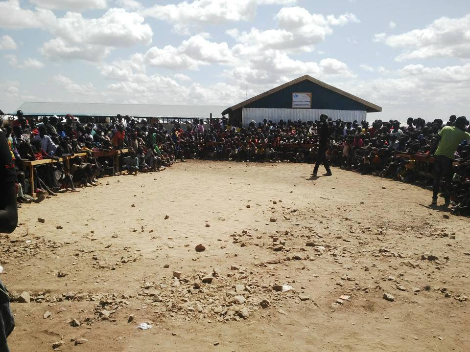 Crowds at Hope Primary School in Kakuma for this year's film festival