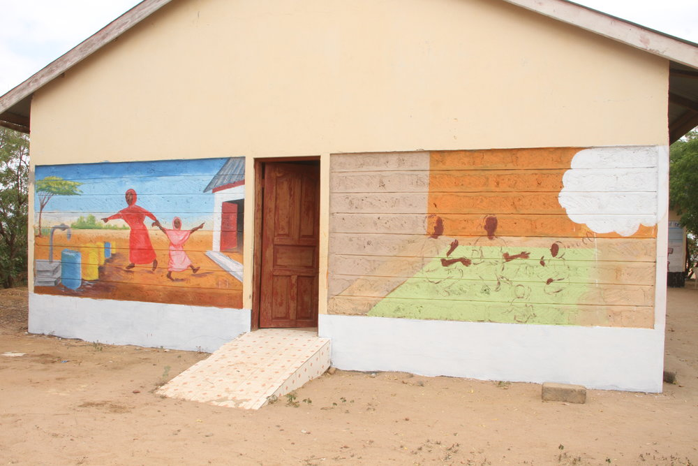 Child Friendly Spaces, Ifo2 Camp, Dadaab; mural created with the support of Inter-Agency Child Protection Working Group (IACPWG)