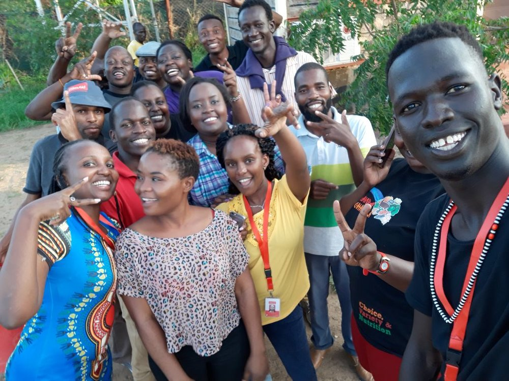 FilmAid's Kenya staff building their skills and their team spirit.