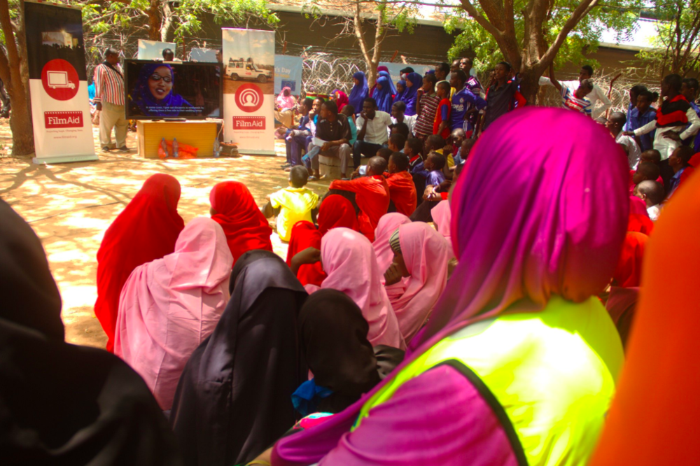FilmAid Workshop in Dadaab Refugee Camp.