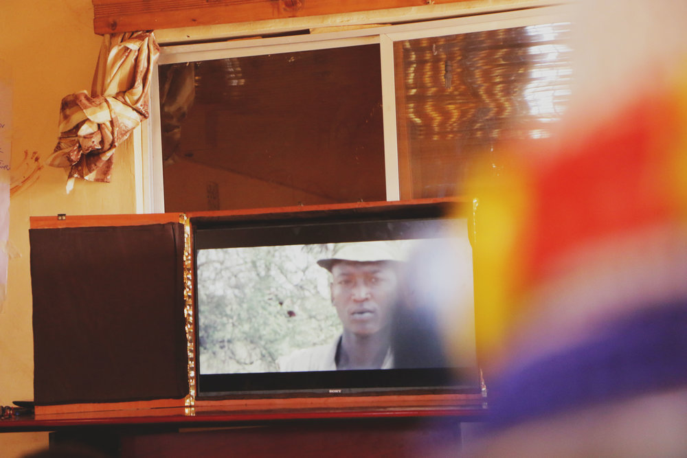 The FilmAid produced short film 'Heroic Cut' being screening in Turkana County